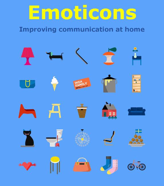 Ikea emoji kolekce