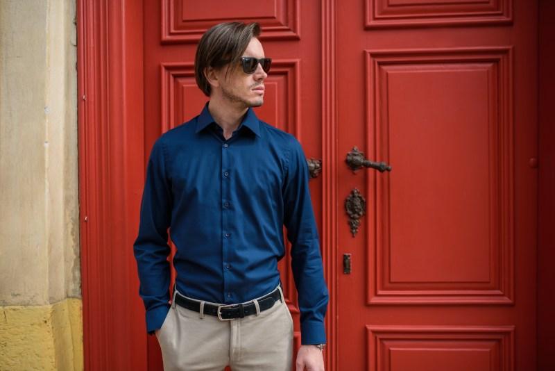 Modrá košile Stevula